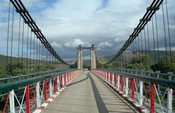 11. Chihani suspended bridge, Wilaya El Tarf (Algeria)